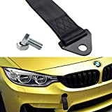 tow hook for volvo - Dewhel UNIVERSAL HIGH STRENGTH RACING RALLY TOW STRAP KIT FRONT REAR Tow Hook Ribbon Black