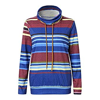 Amazon.com: Clearance SFE Women Hoodie Pullover Striped
