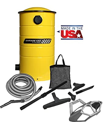 VacuMaid GV50Y Wall Mounted Garage and Car Vacuum with 50 ft hose and Tools