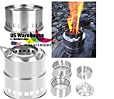 Portable Mini Camping Stove Stainless Steel Wood Burner Furnace Cooker [US Warehouse] by AdvancedSho