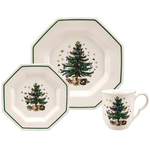 "Nikko ""Christmastime"" Holiday Dinnerware, 12-Piece Party Set, Service for 4 image"