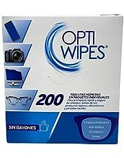 OptiWipes |200 Toallitas Húmedas Individuales - Limpia y desinfecta lentes, celulares, pantallas y electrónicos