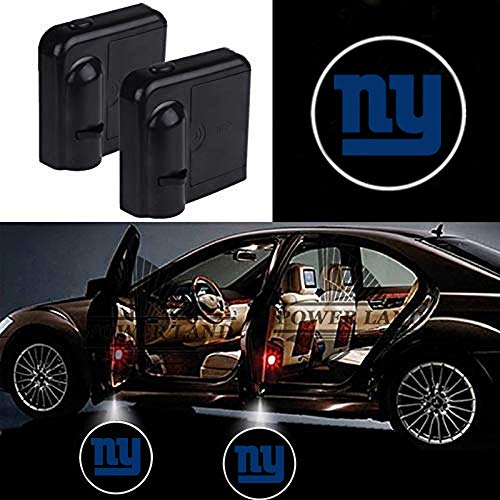 For New York Giants Car Door Led Welcome Laser Projector Car Door Courtesy Light Suitable Fit for all brands of cars(New York Giants)