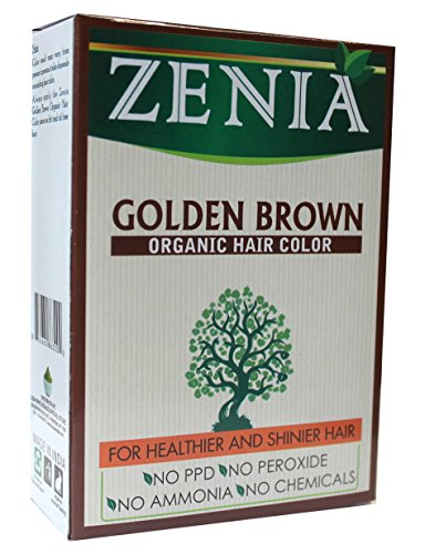 Golden Brown Henna - Zenia Organic Henna Hair Color Golden Brown 100g