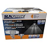 SunForce Triple Head Solar Powered Motion Activated Light 180 LED 1500 Lumens
