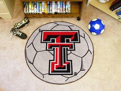 (Fanmats Texas Tech Red Raiders Soccer Ball-Shaped Mats)