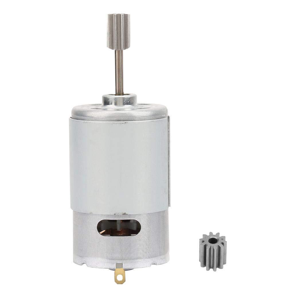 Micro Motor 12V, Motor de Alta Velocidad, Mini Motor Eléctrico Con Cabeza de Diente 2pcs, para Niños de Coche de Juguete Eléctrico Motocicleta(30000 rpm)