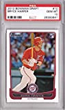 #9: 2012 Bowman Draft Baseball #10 Bryce Harper Rookie Card - Graded PSA 10 Gem Mint