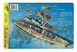 Duane / Bibb Deck Plan Key Largo Florida Wrecks Waterproof Dive & Fish Card