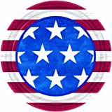 Online Stores, Inc. 7'' Patriotic Plates Americana Package Of 50