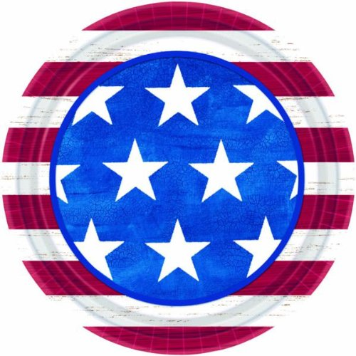 Online Stores, Inc. 7'' Patriotic Plates Americana Package Of 50 by Online Stores, Inc.