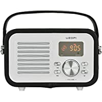 Bluetooth Speakers Portable, UZOPI 5W Outdoor Wireless Boombox Speaker with FM Radio, Remote, Enhanced Bass, Built-In Mic, Support Micro TF SD Card, USB Input, AUX Line-In, etc