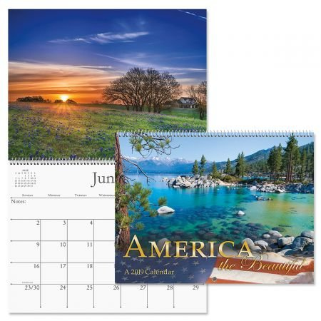 America Calendar - 2019 America the Beautiful Wall Calendar - 12