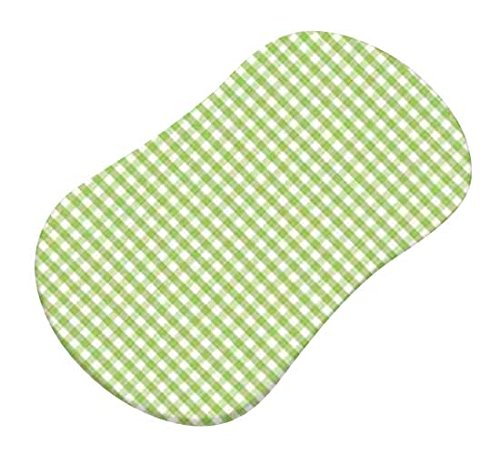 SheetWorld-Fitted-Bassinet-Sheet-Fits-Halo-Bassinet-Swivel-Sleeper-Sage-Gingham-Jersey-Knit-Made-In-USA