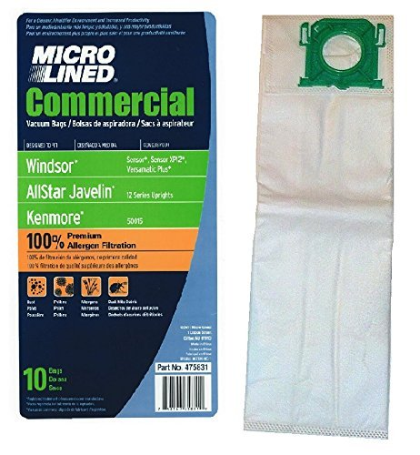 10 Synthetic Cloth Vacuum Bags for SEBO Windsor Sensor Comme