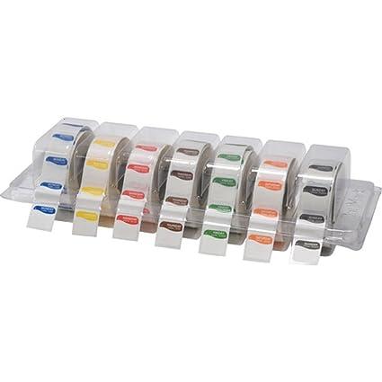 Daymark - Etiquetas cuadradas Grandes de 25 mm de la Semana para Alimentos, con Lunares