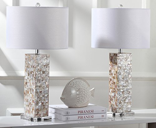 Safavieh Lighting Collection Jacoby Cream 28.9-inch Table Lamp (Set of 2) ()