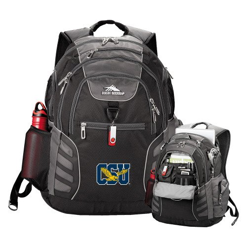 Coppin High Sierra Big Wig Black Compu Backpack 'Official Logo' by CollegeFanGear