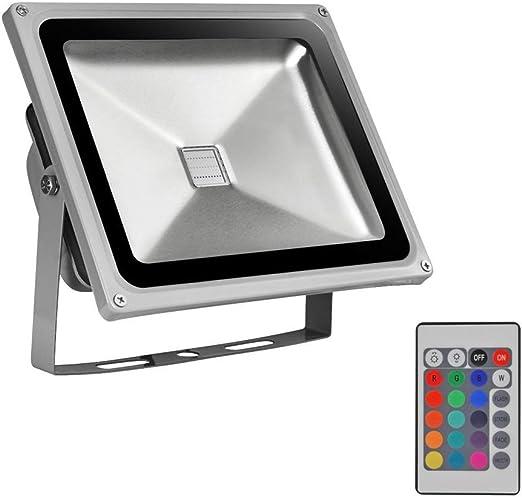 10W / 20W / 50W RGB LED Proyector Control Remoto Regulable Foco ...