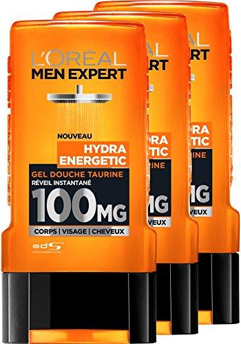 L'Oreal Men Expert Hydra Energetic Despertar Gel de Ducha instantánea Hombres 300 ml - juego de 3 L' Oréal Men Expert