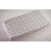 Cambiando la cubierta de la almohadilla para bebés y niñas por Danha - 100% poliéster ultra suave, diseño de bordes de bordes elásticos universales, patrones de flechas blancas unisex - resistentes a las manchas y lavables a máquina