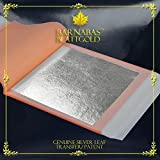Genuine Silver Leaf Sheets - by Barnabas Blattgold - 3.75 inches - 25 Sheets - Transfer Patent Leaf