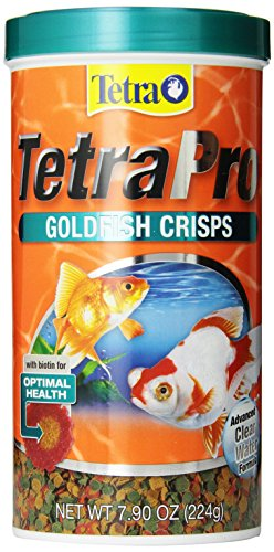 Goldfish Aquarium Flake Food - Tetra 77077 TetraPRO Goldfish Crisps for Fishes, 7.9 Ounce