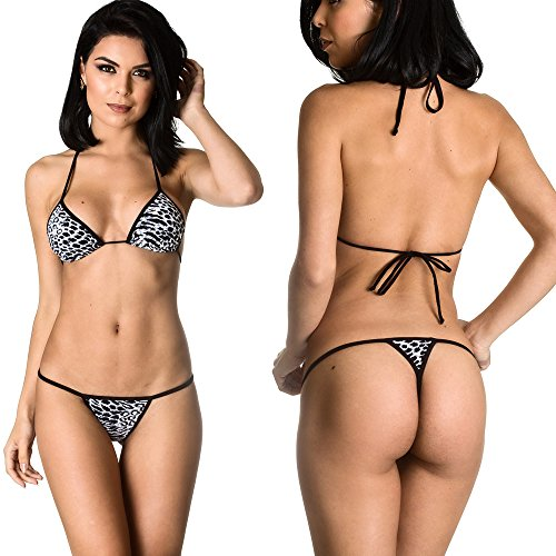 (THE MESH KING Coqueta Swimwear Brazilian Teeny Micro Thong Mini Bikini Swimsuit G String Madagascar-SM)