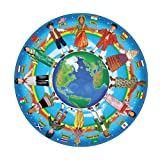 Melissa & Doug Children of The World Floor Puzzle (Easy-Clean Surface, Promotes Hand-Eye Coordination, 48 Pieces, 81.28 cm Diameter)