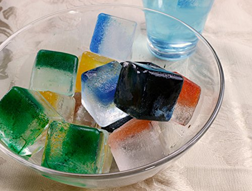 Elbee Home EBH-613 Set of 2 Silicone Ice Cube Trays Easy Release Pop Out Makes, 7.2 x 2.9 x 4.3 inches