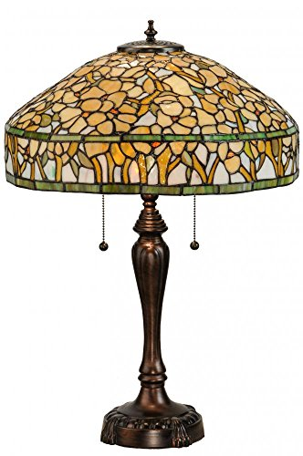 Meyda Tiffany 149457 Dogwood Table Lamp, 27