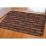 HUGS IDEA Brick Wall Pattern Doormat Indoor Kitchen Decor Rug Bathroom Door Mat Non Slip Soft Absorbsent