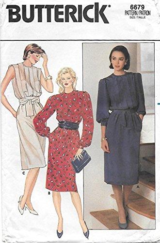 (Vintage Uncut Butterick Misses sz 8 Dress Pattern, 6679)