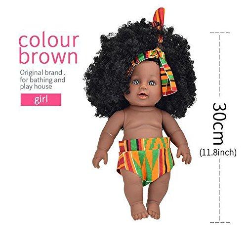 Xerix Enterprise African Reborn silicone vinyl 30cm newborn Rapunzel boneca baby soft toy