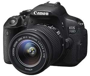 "Canon EOS 700D EF-S 18-55 IS STM - Cámara réflex digital de 18.0 MP (pantalla táctil de 3.0"", objetivo(s) 18-55mm f/3,5, estabilizador de imagen óptico), color negro"