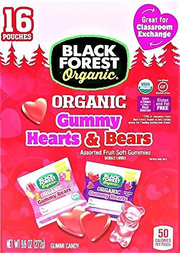 Valentine Limited Edition Black forest Valentine Gummy Hearts & Bears Fruit Flavored Snacks Net Wt 9.6 Oz