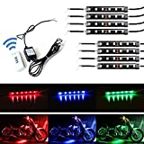 750 rc motor - iJDMTOY 8pcs RGB Multi-Color LED Motorcycle Ground Effect Light Kit w/ Wireless Remote Control