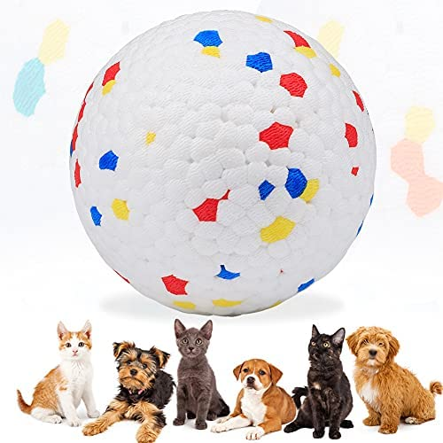 Dog Balls, Indestructible Dog Toys Balls Dog Chew Toys, Rubber Dog Ball Interactive Toys, Bite Resistant Teeth Training Toys, Latex Floating Toy Fetch Throw Toy Ball, Toys for Small Medium Large Dogs