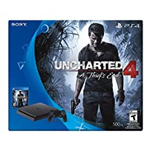Consola PlayStation 4 Slim, 500GB + Uncharted 4 - Standard Edition