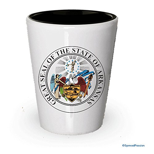 The state seal of Arkansas Shot glass - Gifts for Arkansas People - Seal Arkansas State