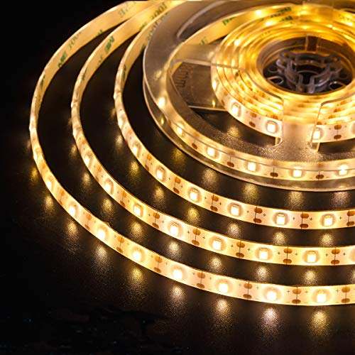 (2019 New) AMIR LED Strip Lights, 90 LED 9.84ft Flexible Solar Strip Lights, 8 Lighting Modes, Waterproof for Patio, Garden, Home, Wedding, Courtyard (Warm White)