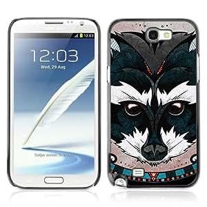 YOYOSHOP [Beautiful Animal Painting] Custodia Case Cover per Samsung Galaxy Note 2
