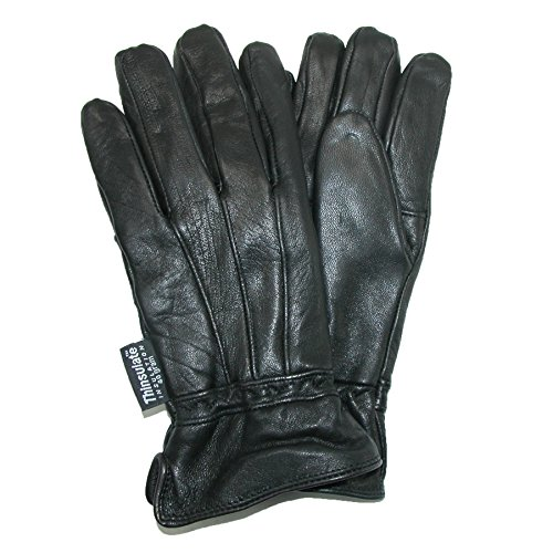 Ladies Leather Driving Gloves - Dorfman Pacific Womens Lambskin Leather Thinsulate Lined Driving Gloves,Small / Medium,Black