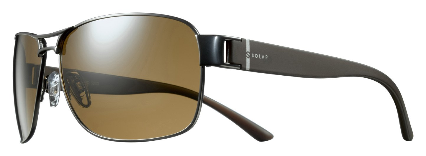 Solar Copeland Sonnenbrille, polarisiert Herren, Schwarz