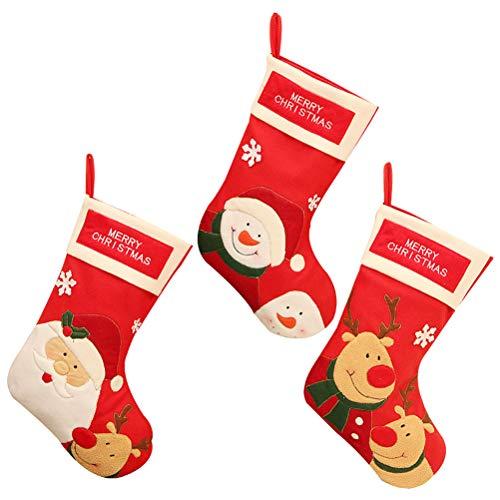 Calcetines de Navidad para mujer y niña, 3 unidades, diseño de Papá Noel, para unisex, de la marca Healalifty: Amazon.es: Salud y cuidado personal