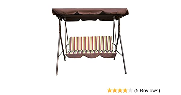 Amazon Com Uhom 3 Person Outdoor Porch Swing Chair 3 Seats Patio
