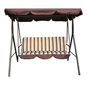 Lovely Bestmart INC Outdoor 3 Person Patio Cushioned Porch Swing