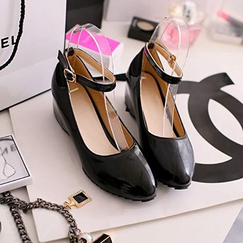 noir noir noir HommesGLTX Talon Aiguille Talons Hauts Sandales Nouveau 0-3Cm Talons Femmes Escarpins Plus La Taille Chaussures Femmes Escarpins Sandales à Talons Hauts 258 e7f