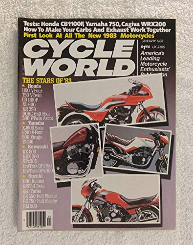 Honda 750 Shadow, Kawasaki GPz1100, Suzuki 750ES & Yamaha 900 Seca - The Stars of '83: First Look at All the New 1983 Motorcycles - Cycle World Magazine - January 1983