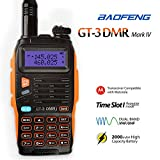 Baofeng GT-3 Mark IV DMR Dual Band Walkie Talkie, VHF 136-174MHz / UHF 400-480MHz Two Way Radio Transceiver, 2000mAH Battery Longer Standby Time, Compatible with MOTOROLA